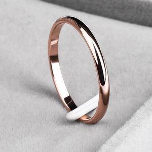 Titanium Steel 2mm Thin Polished Band Hypoallergen